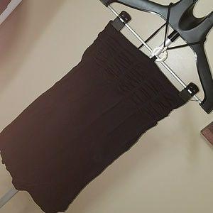 Black top with optional halter tie